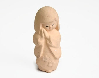 Japanese Clay Doll. Kawaii Tsuchi Ningyo