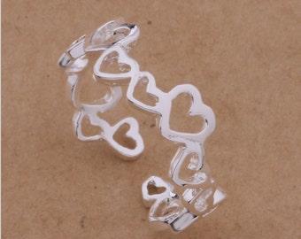 Romantic Adjustable Heart Ring | Silver | LillyRose