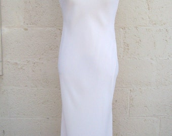 Vintage pale pink sheath dress with unique knotted back, size 6 8
