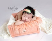 felt flower headband : newborn/baby/toddler headband - photo prop