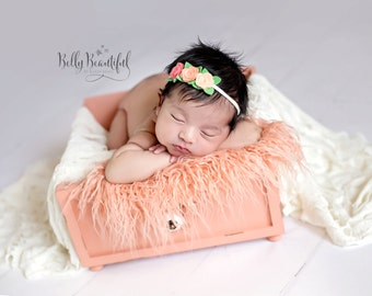 felt flower headband : newborn/baby/toddler headband - photo prop