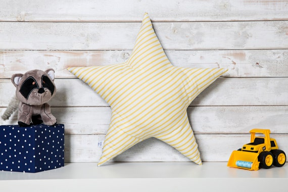 Yellow Star Pillow Star Shaped Pillow Kids Room Decor