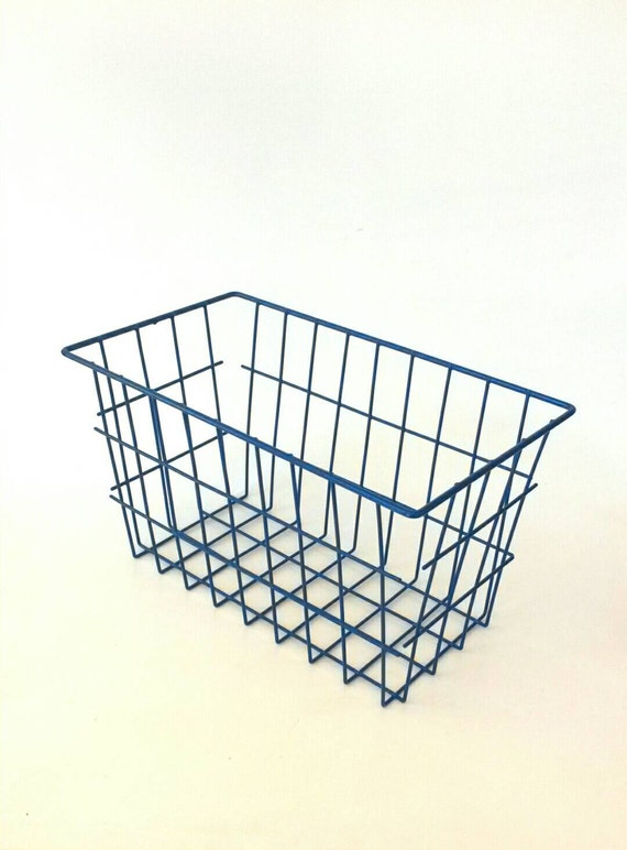 Vintage Industrial Metal Locker and Wire Storage Bins Baskets Boxes Set of 3 See more like this STORAGE BOX Industrial METAL BIN DEEP Basket Container w/Heavy Chain Handles Brand New.