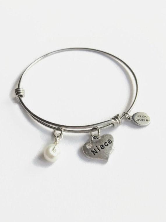 niece expandable bracelet niece charm bangle bracelet