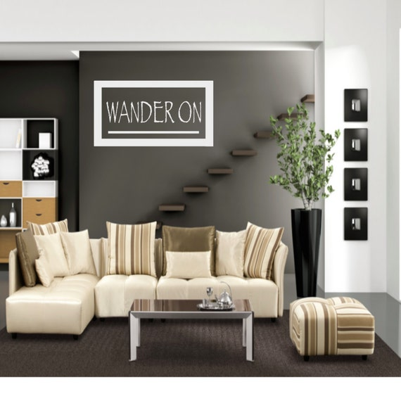 Items Similar To Wanderlust Wall Decal Home Decor Gift