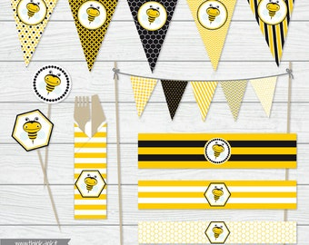 Printable party - Bee theme party - Digital download