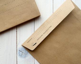 Envelopes kraft paper - 10pcs