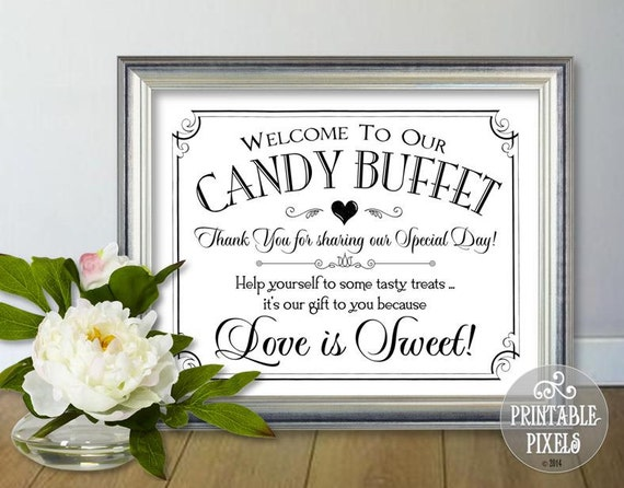 Rare image intended for free printable candy buffet signs