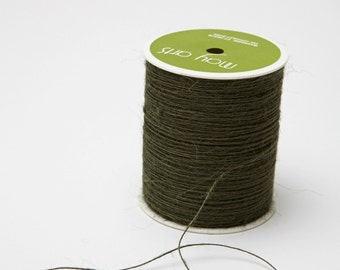 Olive String Burlap Ribbon - 20 Yards