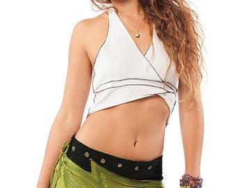 PSY PIXIE MINISKIRT, psy trance clothing, pixie clothing, pixie skirt, festival skirt, boho mini skirt, green tribal skirt