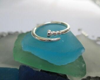 Nail ring- Sterling Silver