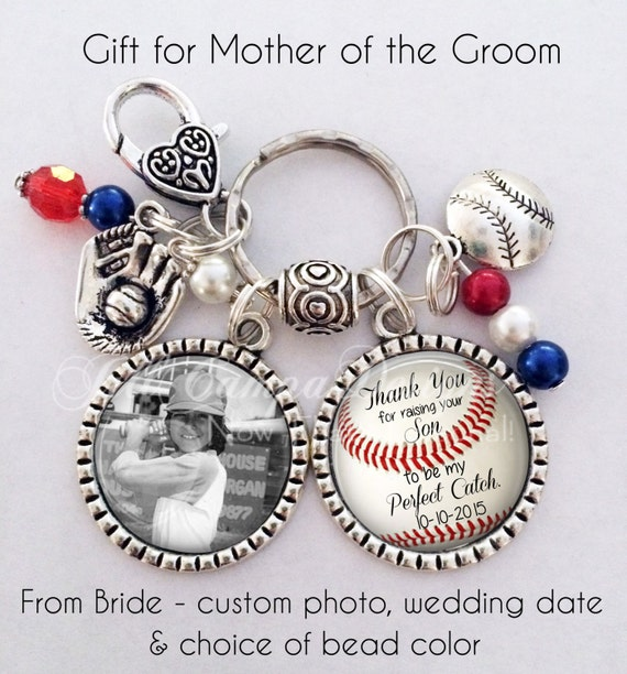Mother of the Groom Giftfrom brideBaseball keychain