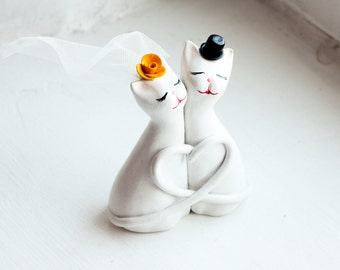 Wedding Cake Topper, Cat Cake Topper, Love Cats