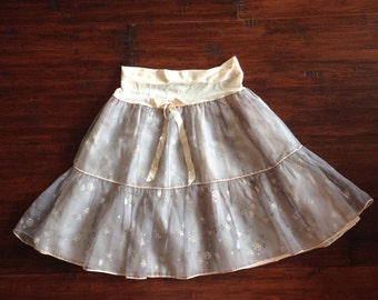 Vintage Handmade Floral Skirt {small}