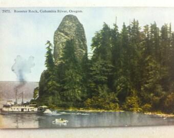 Vintage Or Postcard Rooster Rock Columbia River Oregon