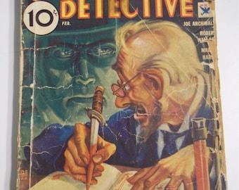 The Phantom Detective Vol. IV No. 3 February 1934 Vintage Mystery Pulp Magazine