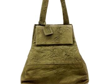 SALE!!! Distressed Leather bag, Handmade leather tote, Green Leather bag, Green bag - Leather flap bag