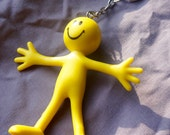 Smiley Face Guy; Key Chain; Flexible; Approx. 3 inches long; Fun and Colorful; Ships free wioth another item