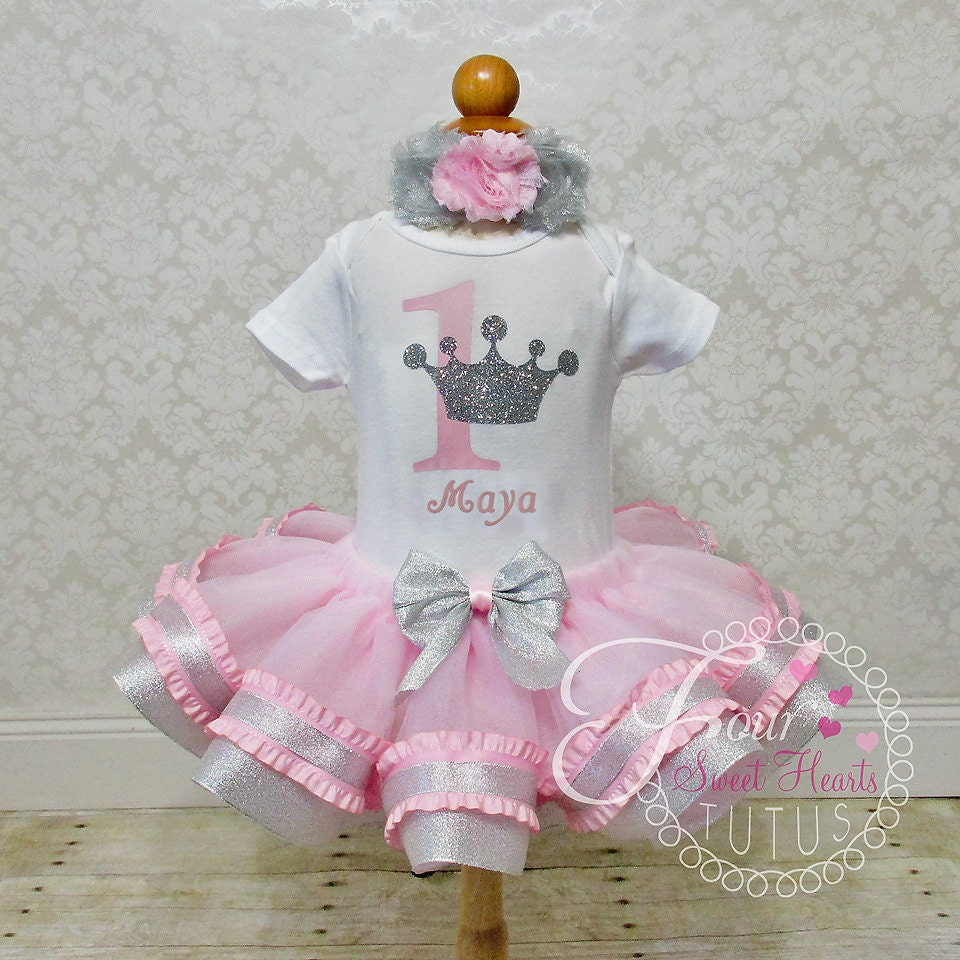 Birthday Party Outfit: Princess Birthday Outfit Pink Girls First Birthday Tutu