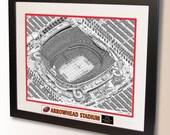 Arrowhead Stadium Art, home of the Kansas City Chiefs