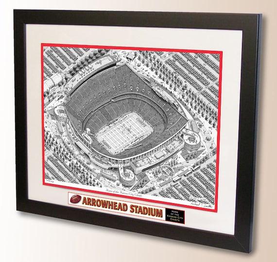 Arrowhead Stadium Art Home Of The Kansas City Chiefs