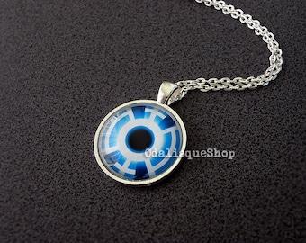 Blue Lantern Corps Pendant Silver Necklace Lantern Corps jewelry keychain
