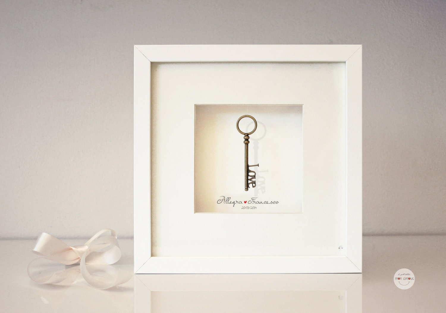Personalised Wedding Gift Art : Personalized Wedding Gift Art Framed Gifts Bronze Anniversary