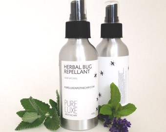 Herbal Bug Repellant, Natural Skincare, DEET-free, Synthetic chemical-free, Essential Oils, Effective and Safe