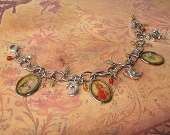Mother Goose nursery rhymes charm bracelet