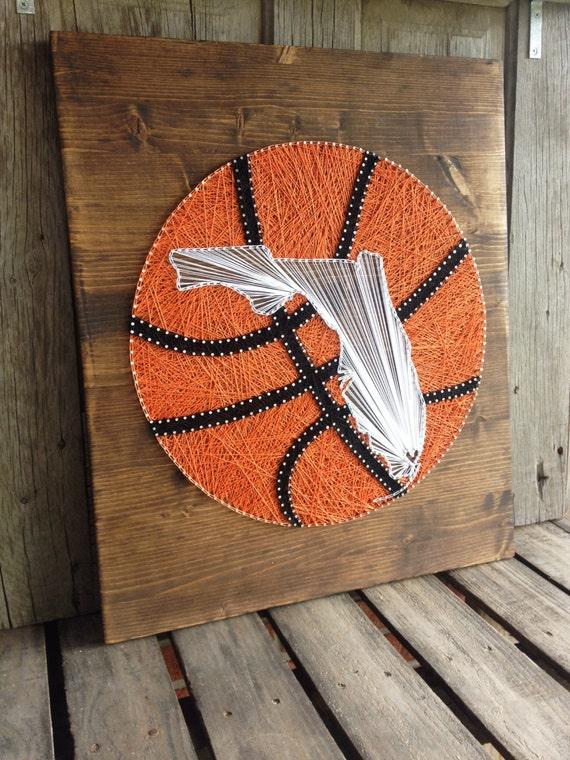 Items Similar To String Art String Art Basketball String