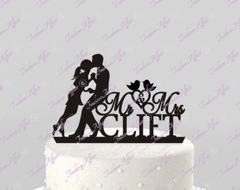 Exclusive Custom Silhouette Wedding Cake Topper By