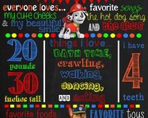 Paw Patrol Birthday Chalkboard Poster DIGITAL FILE