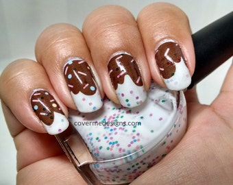 Chocolate Frosting - Water Slide Nail Decals