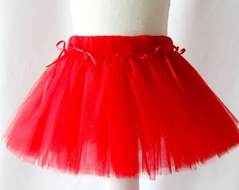 Red Tutu, Tutu Skirt, Girl's Tutu, Baby Tutu, Toddler Tutu, Birthday Tutu, Girl's Red Tutu, Newborn Tutu, Red Tutu Skirt, Red Girl's Skirt