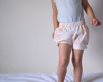 Bubble Shorts, Toddler size 3, Leah Duncan print, ready-to-ship