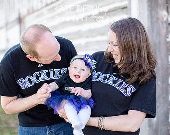 Colorado Rockies Headband.  Colorado Rockies Baby Headband.