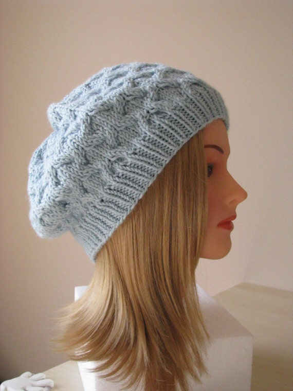 Knitting Patterns Ladies Winter Hats : Knitting Pattern for Womens Winter Hat Slouch Style Hat