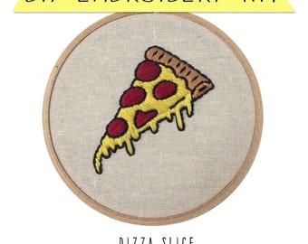 Pizza Slice DIY Embroidery Kit