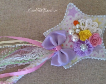 Whimsy Wishes Fairy Wand girls fairy costume accessory star wand pretty pastel magic fairy wand