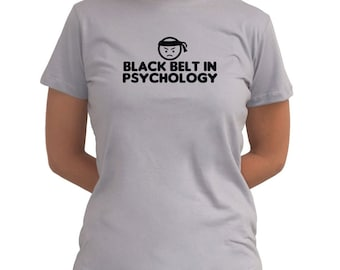 Black Belt In Psychology Women T-Shirt