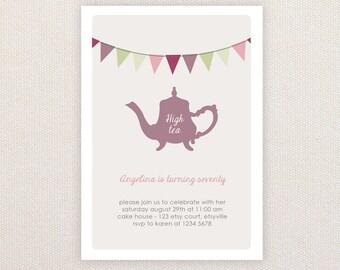 High tea invitation | Etsy AU