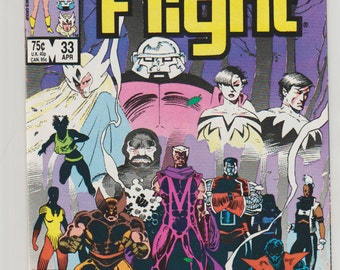 Alpha Flight; Vol 1, 33 Copper Age Comic Book. NM+ (9.6). April 1986.  Marvel Comics