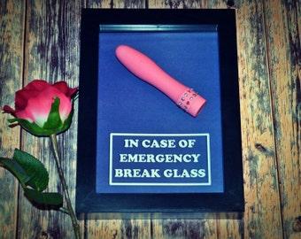Mini Vibrator Dildo - Emergency Box for Women - Bachelorette Party Gift, Bridal Shower Gift for Her, Gift for Girlfriend, Wife, Valentine