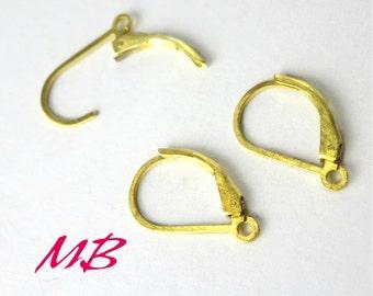 1 Pair Lever-back Earring Hooks, 24K Gold over Sterling Silver