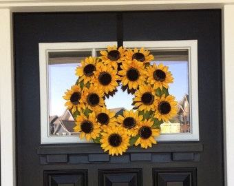 Sunflower Wreath - Spring Wreath - Summer Wreath - Flower Wreath - Fall Decor