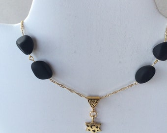 Black and Gold Star Necklace
