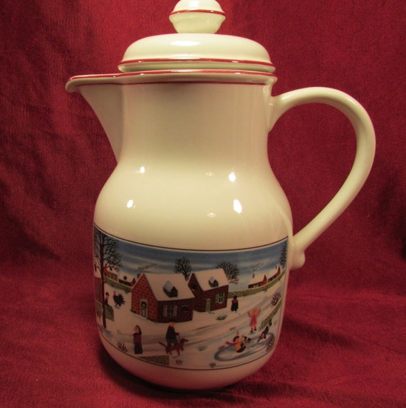Villeroy boch christmas naif coffee pot with lid for Villeroy boch naif