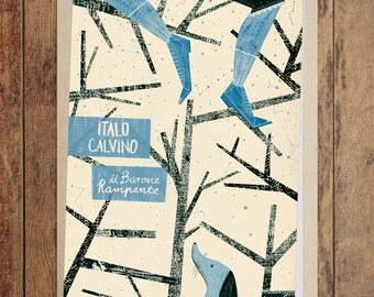 Art print: The Baron in the Trees, Italo Calvino. High quality giclée print. Book Cover Illustration. A3 Poster. Archival paper.