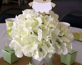 Lamb Baby Shower Decorations - Sheep Baby Shower - Lamb Party - Lamb Decorations - Set of 5
