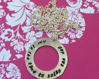 Now is the time to seize the day Newsies necklace